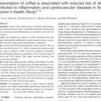 צריכת קפה מפחיתה את הסיכון לתמותה ממחלות לב